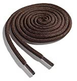 OrthoStep Thick Round Athletic 54 inch Brown Shoe Laces - Thick Shoe and Hiker Boot Laces 2 Pair Pack