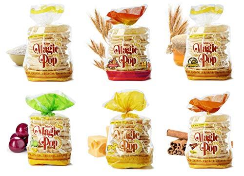 Kim's Magic Pop Freshly Popped Rice Cake Combo A 12 Pack   Keto, Vegan   Low Carb, Sugar Free, Fat Free, Natural, Multigrain Korean Snack   Easy Bread, Chip, Cracker Replacement 1