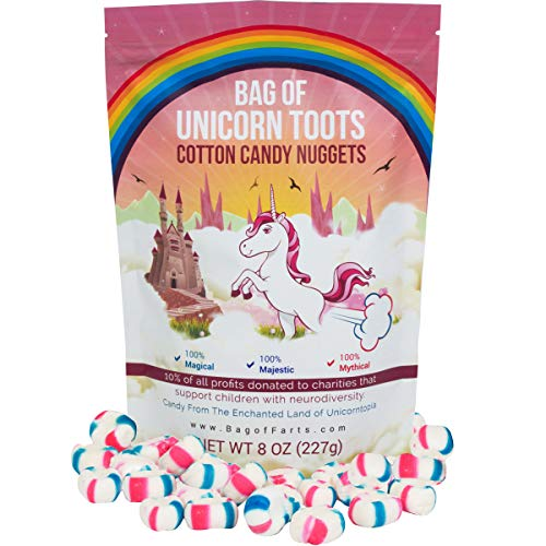 Bag of Unicorn Toots Half Pound Of Candy Funny for All Ages Unique Birthday for Friends, Mom, Dad, Girl, Boy, Easter Basket Funny Gag Gift