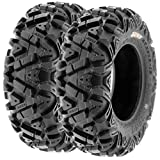 Set of 2 SunF A033 Power.I AT 24x8-12 ATV UTV Off-Road Tires All-Terrain, 6 Ply Tubeless