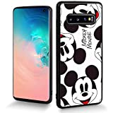 DISNEY COLLECTION Cartoon Cute Phone Case Fit for Samsung Galaxy S10(6.1 inch) Mickey Wallpaper Smile Bumper Shockproof Protective Cover