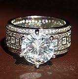 Crookston Fashion White Sapphire Birthstone 925 Silver Fil Wedding Bridal Ring SZ 6-10   Model RNG - 2830   6