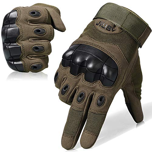 JIUSY Touch Screen Military Rubber Hard Knuckle...