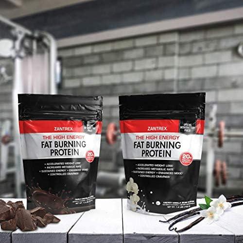 Zantrex High Energy Fat Burning Protein Tasty Shake™, Triple Chocolate Fudge, 22 Ounces 6