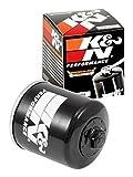 K&N KN-204 Motorcycle/Powersports High Performance Oil Filter, Black