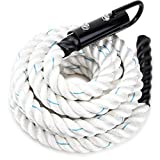 Crown Sporting Goods 20' Thick 1.5' White Poly DAC Gym Climbing Rope