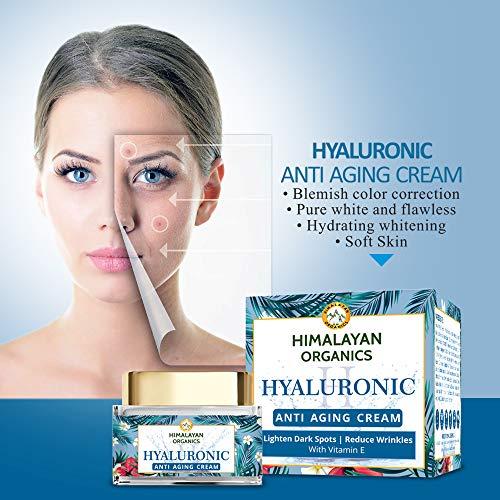 514NUaptp%2BL - Himalayan Organics Hyaluronic Acid Anti Aging Cream for Under Eye Dark Circles, Anti Wrinkle, Skin Brightening, 50 ml
