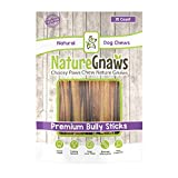 Nature Gnaws Small Bully Sticks 5-6 inch (15 Pack) - 100% Natural Grass Fed Premium Beef Dog Chews