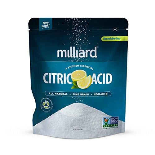 Milliard Citric Acid 5 Pound - 100% Pure Food Grade NON-GMO Project VERIFIED (5 Pound)