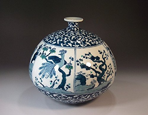 Japanese traditional crafts | porcelain pottery vase - arabesque split Scenic view | gifts | Gifts | souvenir | gift | Fujii NishikiAya