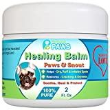 Dog Healing Balm for Paws and Snout - All Natural - Aloe Vera, Tea Tree Oil, Cocoa Butter and Coconut Oil - 2 oz Jar