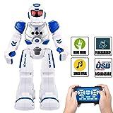 Elemusi Remote Wireless Control Robot for Kids Toys,Smart Robots with Singing,Dancing,Gesture Sensing Entertainment Robotics for Children (Blue)