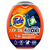 Tide Pods Ultra Oxi Liquid Laundry Detergent Pacs, 73 Count - Packaging May Vary