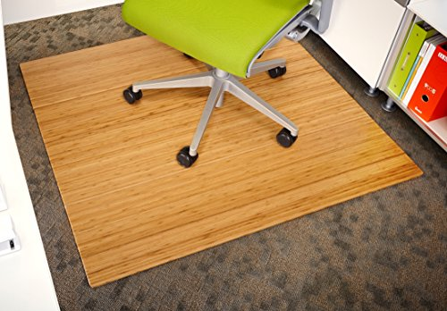 Anji Mountain Roll-up Wooden Chairmat, 42' x 48', Natural