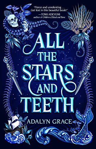 fantasy book cover skull mermaid tail all the stars and teeth