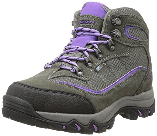 Hi-Tec Women's Skamania Mid Waterproof Hiking Boot, Grey/Viola,8 M US