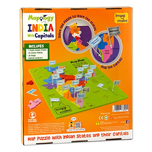 Imagimake Mapology India With State Capitals - Educational Toy And Learning Aid Puzzle-Jigsaw Puzzle 3