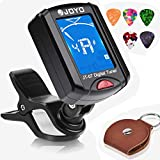 PACETAP Guitar Tuner Clip on Chromatic Digital Tuner for Acoustic Guitar, Banjo, Ukulele, Violin, Bass, Mandola with Picks and Picks Holder