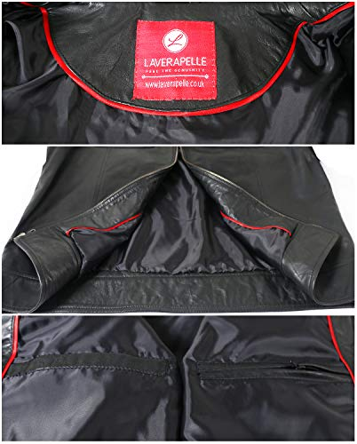 Laverapelle Men's Genuine Lambskin Leather Jacket (Black, Racer Jacket) - 1501535 20 Fashion Online Shop gifts for her gifts for him womens full figure