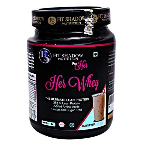 Fit shadow Her 100% Whey Protein Shake, Ideal All Natural Protein For Women With Zero Artificial Flavors, Colors or Sweeteners,Coffee, 1kg.