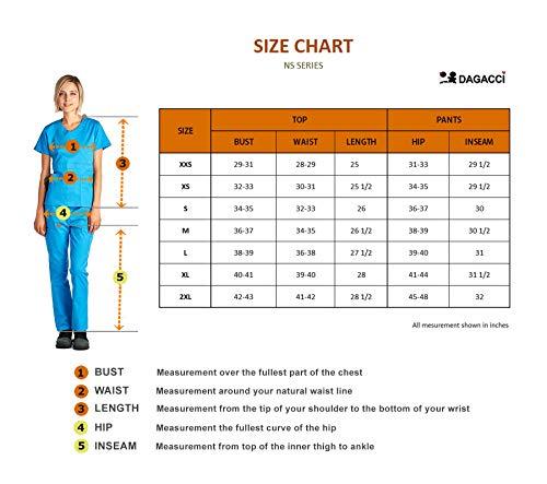 Dagacci Medical Uniform Girls's Scrubs Set Stretch Break up Distinction Internet and Pocket (Medium, Navy) deal 50% off 514ddbbbeNL