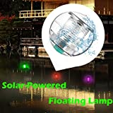 Swimming Pool Lights, Solar Floating Light, Tuscom Lighted Floating Pool Flower Soccer Ball Lights Color Changing LED Solar Globe Night Light Lamp for Wedding Garden Pond Party Home Decor (Round)