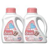 Dreft Stage 1: Newborn Hypoallergenic Liquid Baby Laundry Detergent (HE), 50 Ounces (32 Loads), 2 Count