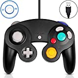 Gamecube Controller USB,Classic Gamecube USB Wired Controller Gamepad for PC Windows and Mac Black