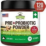 Probiotics for Dogs + Digestive Enzymes, Prebiotics, Pumpkin - 120 Grams 5 Billion CFU - Dog Probiotic Powder Supplement for Pet Allergy Relief, Constipation Immune Support Diarrhea Upset Stomach, USA