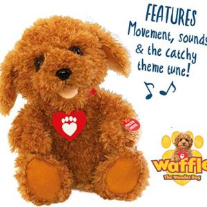 Waffle the Wonder Dog 3403 Interactive Soft Toy, Brown 514ijnUaoEL