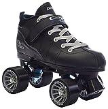 Pacer Black Mach-5 GTX500 Quad Speed Roller Skates (Mens 10 / Ladies 11)