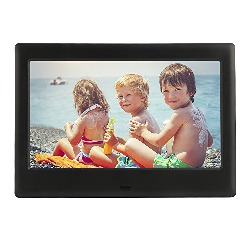DBPOWER HD Digital Photo Frame IPS LCD Screen with Auto-Rotate/Calendar/Clock Function & Remote Control, Black
