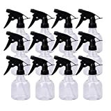 Bekith 12 Pack 8 Oz Empty Plastic Spray Bottle with Black Trigger Sprayers - Adjustable Head Sprayer from Fine to Stream - Refillable Sprayer for Water, Kitchen, Bath, Beauty, Hair, and Cleaning