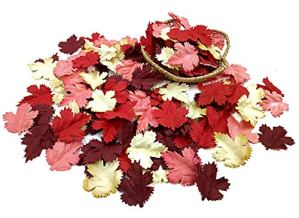 NAVA-CHIANGMAI-100-pcs-Mulberry-Paper-Maple-Leaves-Artificial-Leaves-Craft-Leaves-for-Scrapbooking-Wedding-Doll-House-Supplies-Card-Red-Tone