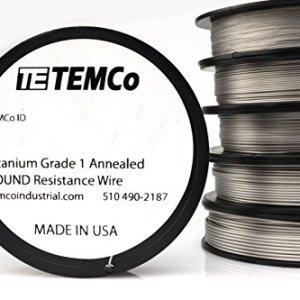 TEMCo Titanium Wire 16 Gauge Surgical Grade 1 Resistance AWG ga