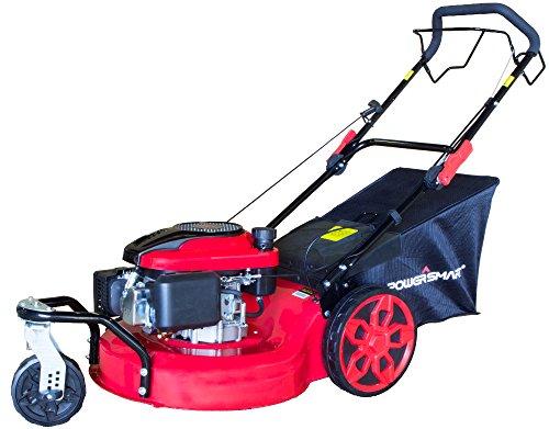 PowerSmart DB8620 20 inch 3-in-1 196cc Gas Self Propelled Mower, Red/Black