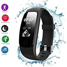 Helthyband Fitness Tracker, H107 Plus Activity Tracker: Waterproof Bluetooth Fitness Watch Smart Watch with Sleep Tracker Heart Rate Monitor Pedometer 14 Training Modes for iOS/Android Cellphone