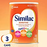 Similac Sensitive Infant Formula with Iron, Powder, One Month Supply, 34.9 ounces (Pack of...