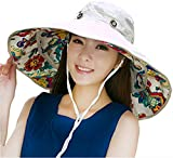 Product review of iHomey Packable Extra Large Brim Floppy Sun Hat Reversible UPF 50+ Beach Sun Bucket Hat