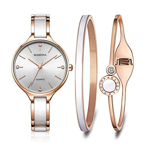 MAMONA Women's Quartz Watch Gift Set...