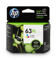HP 63XL Tri-color High Yield Original Ink Cartridge (F6U63AN)