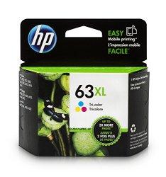 HP 63XL Tri-color High Yield Original Ink Cartridge (F6U63AN)
