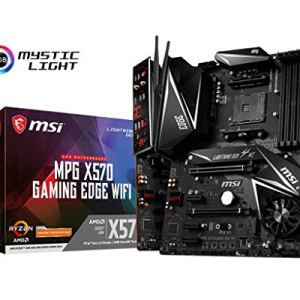 MSI MPG X570 GAMING EDGE WIFI Motherboard (AMD AM4, DDR4, PCIe 4.0, SATA 6Gb/s, M.2, USB 3.2 Gen 2, AC Wi-Fi 5, HDMI…