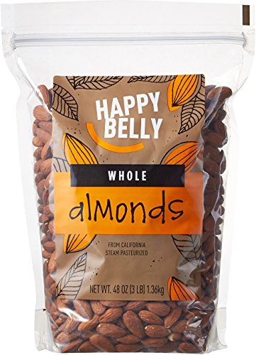 Happy Belly Whole Raw Almonds, 48 Ounce