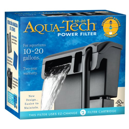 AQUA-TECH Power Aquarium Filter, 10 to 20-Gallon Aquariums