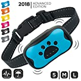 Dog Bark Collar (NEW UPGRADE 2019) | No Bark Training Collar (M to L Dogs) | Humane & Super Effective Anti Bark Control Device (ALL Vibration, NO Shock) | Stop Barking Collar w/ 6 Color Face Plates!