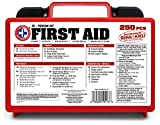 'Be Smart Get Prepared 250 Piece First Aid Kit, Exceeds OSHA ANSI Standards for 50 People - Office, Home, Car, School, Emergency, Survival, Camping, Hunting, and Sports'