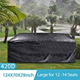 king do way Outdoor Patio Furniture Covers, 315x180x74cm Waterproof 420D Oxford Polyester Extra Large Size Furniture Set Covers Fits to 12-14Seat