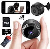 Mini Spy Camera Wireless Hidden Home WiFi Security Cameras with App 1080P, Inc 32GB SD Card + Plus More. Night Vision Motion Activated Indoor Outdoor iPhone/Android Phone Small Nanny Cam for Cars etc