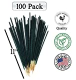 (100 Pack) American Hand-made'Mintronella' Essential Oil Mosquito Gnats No-see-ums Repellent Citronella Outdoor, Camping, Bug incense sticks 100% Natural Bamboo Deck Party. Farm Raised Candles